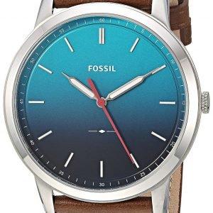 Fossil Fs5440 Kello Sininen / Nahka