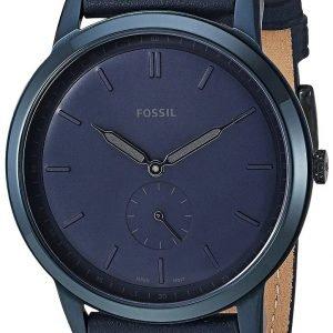 Fossil Fs5448 Kello Sininen / Nahka
