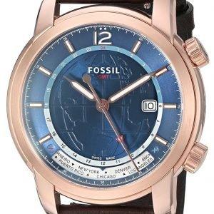 Fossil Fsw7006 Kello Sininen / Nahka