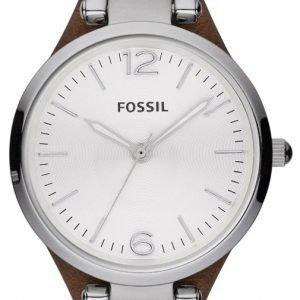 Fossil Georgia Es3060 Kello Valkoinen / Nahka