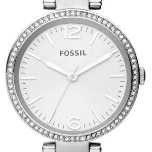 Fossil Georgia Es3225 Kello Valkoinen / Teräs