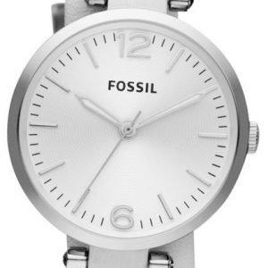 Fossil Georgia Es3246 Kello Valkoinen / Teräs