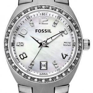 Fossil Glitz Am4141 Kello Valkoinen / Teräs