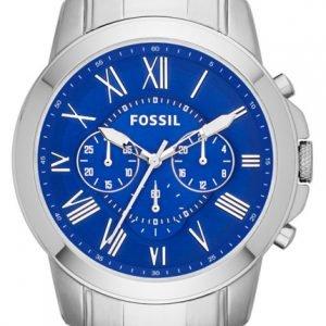 Fossil Grant Fs4844 Kello Sininen / Teräs