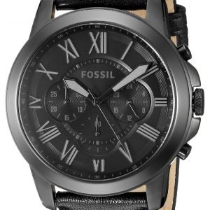 Fossil Grant Fs5132 Kello Musta / Nahka