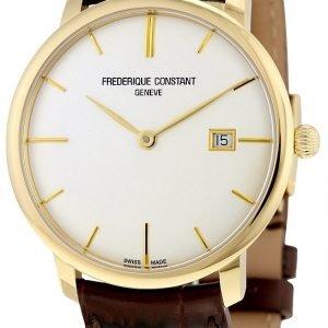 Frederique Constant Classics Fc-306v4s5 Kello Hopea / Nahka