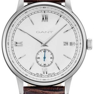 Gant Freeport Gt023001 Kello Valkoinen / Nahka
