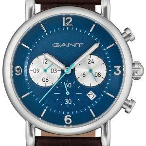 Gant Gt007009 Kello Sininen / Nahka