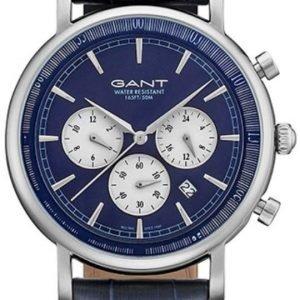 Gant Gt028001 Kello Sininen / Nahka
