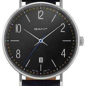 Gant Gt034003 Kello Harmaa / Nahka