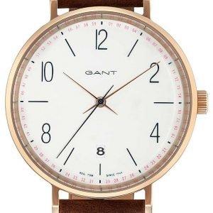 Gant Gt035005 Kello Valkoinen / Nahka