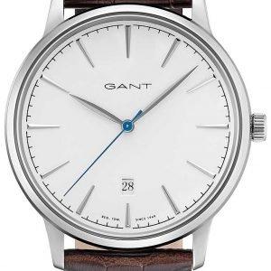 Gant Stanford Gt020002 Kello Valkoinen / Nahka