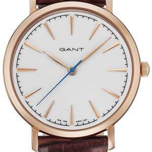 Gant Stanford Gt021003 Kello Valkoinen / Nahka