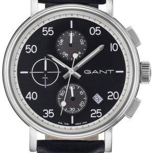 Gant Wantage Gt037001 Kello Musta / Nahka