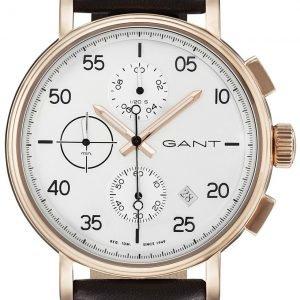 Gant Wantage Gt037002 Kello Valkoinen / Nahka