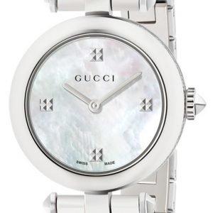 Gucci Diamantissima Ya141504 Kello Valkoinen / Teräs