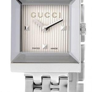 Gucci G- Frame Ya128402 Kello Hopea / Teräs