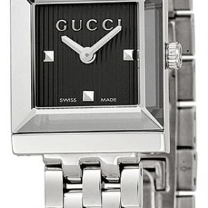 Gucci G- Frame Ya128403 Kello Musta / Teräs
