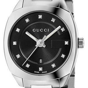 Gucci G- Frame Ya142503 Kello Musta / Teräs