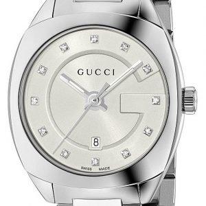 Gucci G- Frame Ya142504 Kello Valkoinen / Teräs