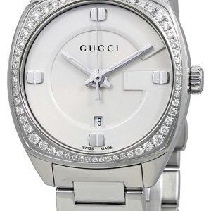 Gucci G- Frame Ya142506 Kello Valkoinen / Teräs
