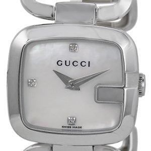 Gucci G Gucci Ya125502 Kello Valkoinen / Teräs