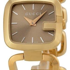 Gucci G Gucci Ya125511 Kello Ruskea / Kullansävytetty Teräs