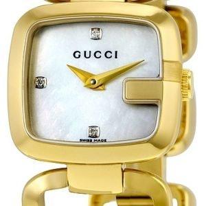 Gucci G Gucci Ya125513 Kello Valkoinen / Kullansävytetty Teräs