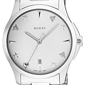 Gucci G-Timeless Ya1264028 Kello Valkoinen / Teräs