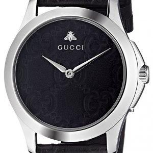 Gucci G-Timeless Ya1264031 Kello Musta / Nahka