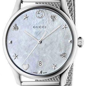 Gucci G-Timeless Ya1264040 Kello Valkoinen / Teräs