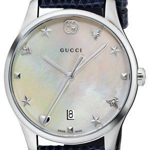 Gucci G-Timeless Ya1264049 Kello Valkoinen / Nahka