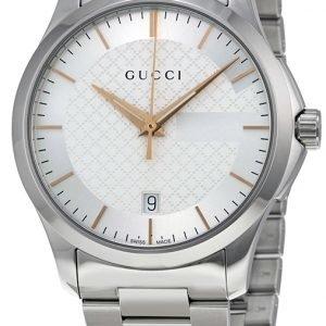 Gucci G-Timeless Ya126442 Kello Hopea / Teräs