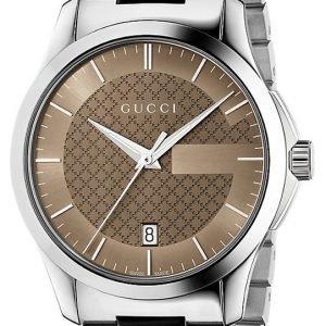 Gucci G-Timeless Ya126445 Kello Ruskea / Teräs