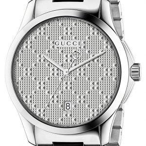 Gucci G-Timeless Ya126459 Kello Hopea / Teräs