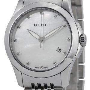 Gucci G-Timeless Ya126504 Kello Hopea / Teräs