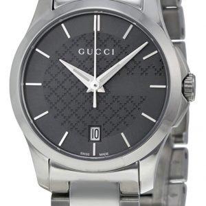 Gucci G-Timeless Ya126522 Kello Harmaa / Teräs
