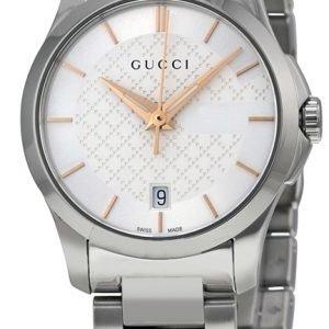 Gucci G-Timeless Ya126523 Kello Hopea / Teräs