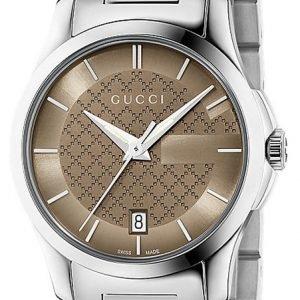 Gucci G-Timeless Ya126526 Kello Ruskea / Teräs