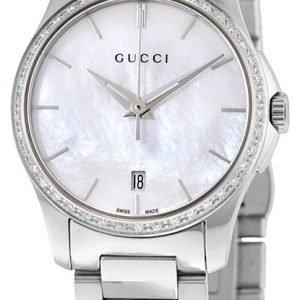 Gucci G-Timeless Ya126543 Kello Valkoinen / Teräs