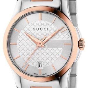 Gucci G-Timeless Ya126564 Kello Hopea / Punakultasävyinen