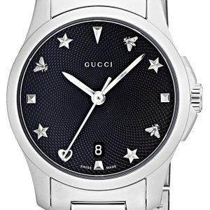 Gucci G-Timeless Ya126573 Kello Musta / Teräs