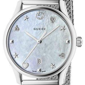 Gucci G-Timeless Ya126583 Kello Valkoinen / Teräs