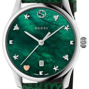 Gucci G-Timeless Ya126585 Kello Vihreä / Nahka