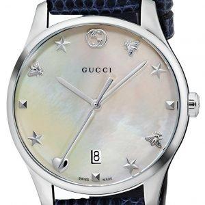 Gucci G-Timeless Ya126588 Kello Valkoinen / Nahka