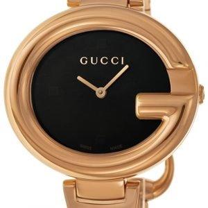 Gucci Guccissima Ya134305 Kello Musta / Punakultasävyinen