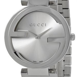 Gucci Interlocking Ya133308 Kello Hopea / Teräs