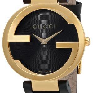 Gucci Interlocking Ya133326 Kello Musta / Nahka