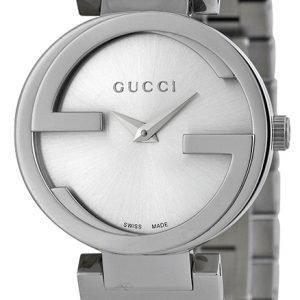 Gucci Interlocking Ya133503 Kello Hopea / Teräs