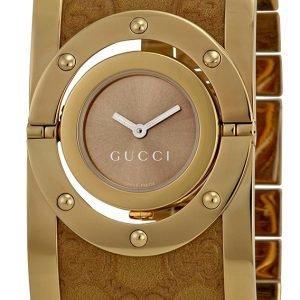 Gucci Twirl Ya112434 Kello Ruskea / Kullansävytetty Teräs